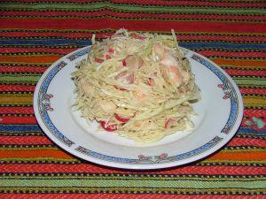 salade de chou blanc aux crevettes
