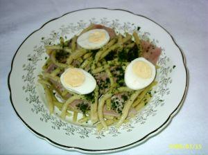 Salade de haricots au jambon