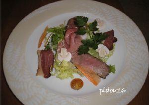 salade aux magrets de canard en photos