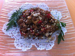 salade poivron aubergine