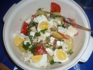Salade de pommes de terre au chèvre