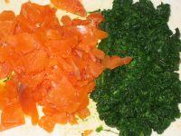 saumon fumé et épinards