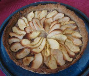 Tarte aux pommes aux amandes