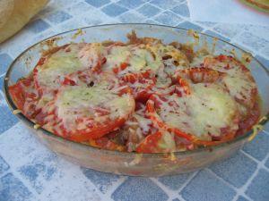 Tomates et aubergines en gratin