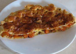 Tourte à la carotte et cumin