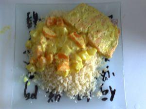 truite aux carottes et navets
